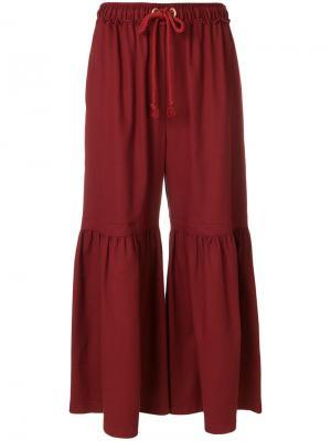 Расклешенные брюки Moroccan See By Chloé. Цвет: красный
