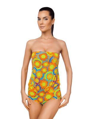 Слитный купальник Viva la Donna. Цвет: светло-оранжевый