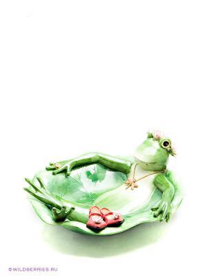 Блюдо Лягушка Pavone. Цвет: зеленый (осн.)