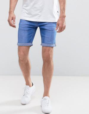 Blend Ярко-синие джинсовые шорты. Цвет: синий