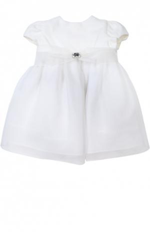 Платье с поясом Caf. Цвет: белый