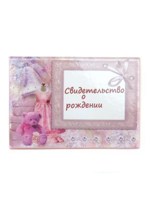 Обложка для свидетельства о рождении Lola. Цвет: белый, бледно-розовый