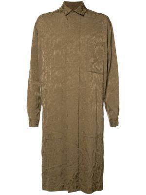 Жаккардовое пальто с цветочным узором Uma Wang. Цвет: коричневый
