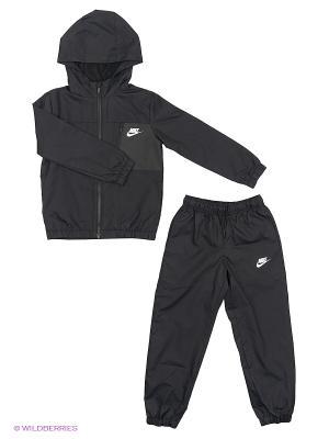 Спортивный костюм B NSW TRK SUIT WINGER W Nike. Цвет: черный