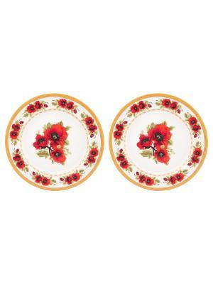 Набор тарелок Маки Elan Gallery. Цвет: красный, зеленый