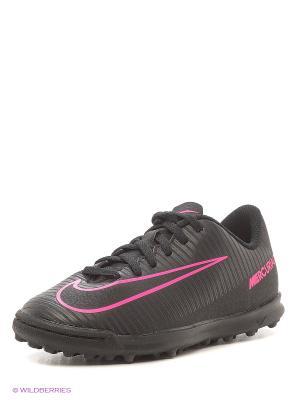 Шиповки JR MERCURIALX VORTEX III TF Nike. Цвет: черный, розовый