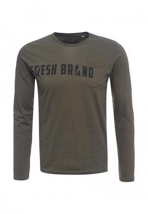 Лонгслив Fresh Brand. Цвет: хаки
