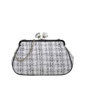Средняя сумка из текстиля PAPÀ RAZZI. Цвет: белый