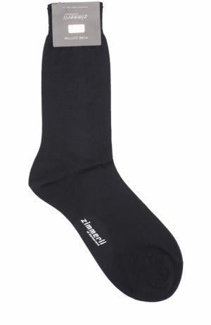 Хлопковые носки Zimmerli. Цвет: темно-синий