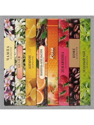 Набор аромапалочек, 8 ароматов по 1 шт. Индокитай. Цвет: прозрачный