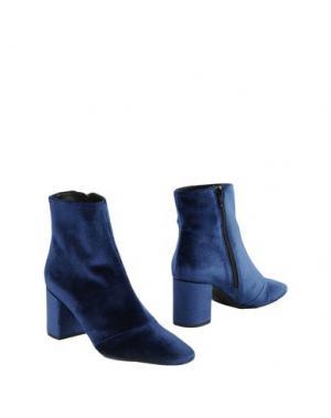 Полусапоги и высокие ботинки MAISON SHOESHIBAR. Цвет: темно-синий