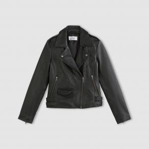 Блузон кожаный на молнии ENJOYPHOENIX POUR LA REDOUTE. Цвет: черный