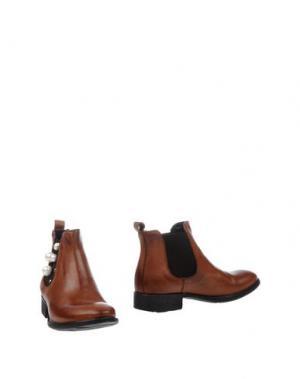 Полусапоги и высокие ботинки PIAMPIANI. Цвет: коричневый