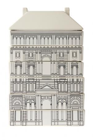 Комплект фарфоровой посуды Governo Seletti. Цвет: черно-белый