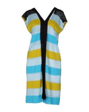Короткое платье PAOLO ERRICO. Цвет: небесно-голубой
