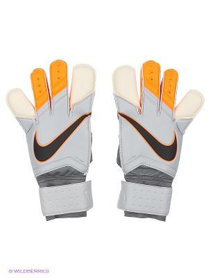 Перчатки NIKE GK GRIP 3. Цвет: серый, оранжевый, белый