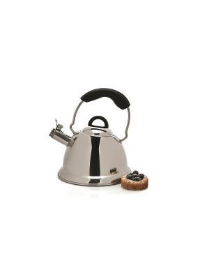 Чайник  со свистком Designo 3л BergHOFF. Цвет: черный, серебристый