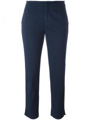 Укороченные брюки Aspesi. Цвет: синий