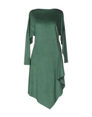 Короткое платье MARIAGRAZIA PANIZZI. Цвет: зеленый