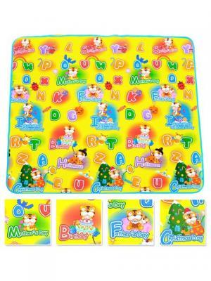 Детский развивающий коврик Тигренок односторонний 200х180х0,5 Mambobaby. Цвет: голубой