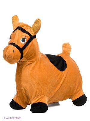 Лошадка-попрыгунчик Наша Игрушка. Цвет: коричневый, черный