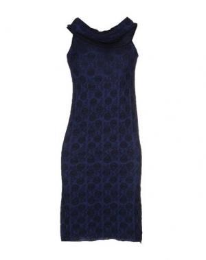 Короткое платье FABRIZIO DEL CARLO. Цвет: синий