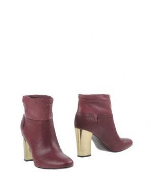 Полусапоги и высокие ботинки AERIN. Цвет: красно-коричневый