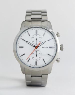 Fossil Серебристые наручные часы с хронографом FS5346 Townsman. Цвет: серебряный