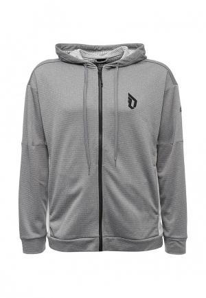 Толстовка adidas. Цвет: серый