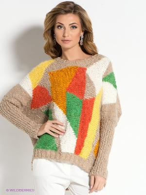 Джемпер MARY MEA. Цвет: бежевый, оранжевый, желтый, зеленый