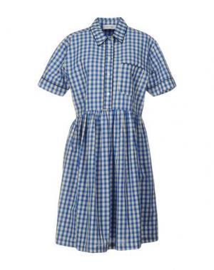 Короткое платье AGLINI. Цвет: синий