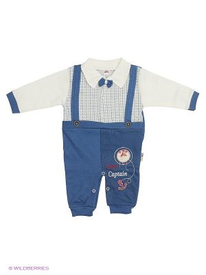 Комбинезон Babycollection. Цвет: кремовый, синий