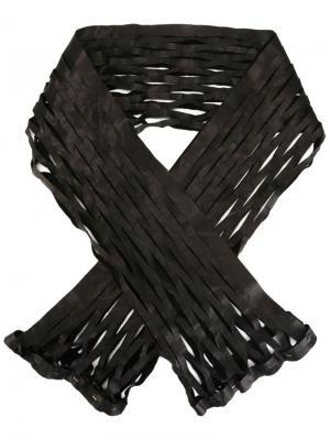Шарф в сетку Ma+. Цвет: чёрный