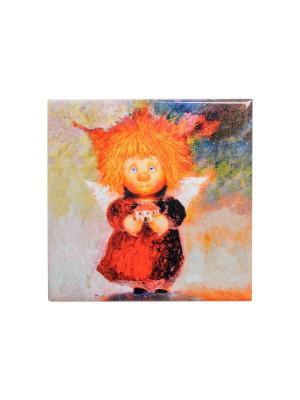Магнит Ангел-хранитель Дома Artangels. Цвет: оранжевый, бежевый, желтый