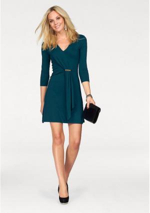 Платье MELROSE. Цвет: сине-зеленый