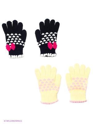 Перчатки, 2 пары FOMAS. Цвет: черный, желтый
