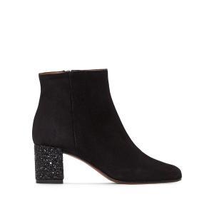 Ботильоны кожаные на каблуке Darrus Exclusivité La Redoute JONAK. Цвет: черный