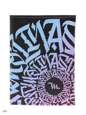 Обложка для паспорта Malinasport. Цвет: черный, бирюзовый, розовый