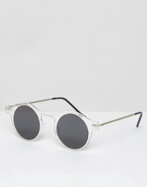 Spitfire Круглые солнцезащитные очки. Цвет: прозрачный