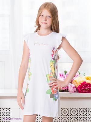 Платье Agatha Ruiz De La Prada. Цвет: белый, голубой, оранжевый, желтый