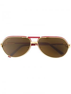 Солнцезащитные очки Revival Vendome Cartier. Цвет: красный