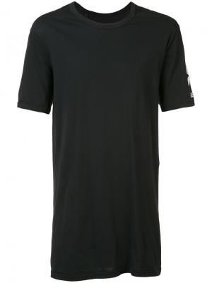 Удлиненная футболка X 11 By Boris Bidjan Saberi. Цвет: чёрный