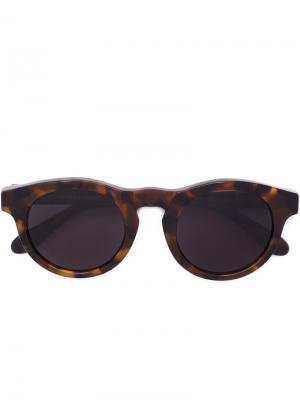 Солнцезащитные очки BOY HAVANA Retrosuperfuture. Цвет: коричневый