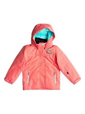 Куртка сноубордическая ROXY. Цвет: розовый, коралловый