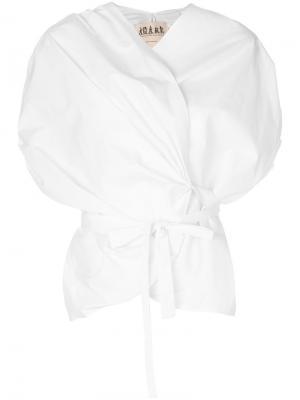Блузка с запахом A.W.A.K.E.. Цвет: белый