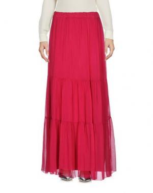 Длинная юбка PAOLO CASALINI. Цвет: пурпурный