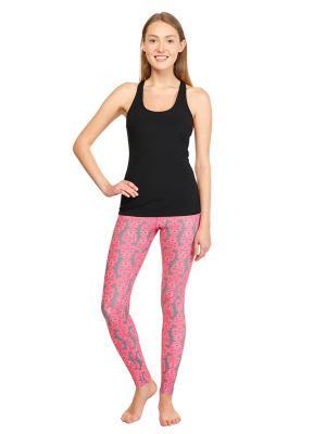 Леггинсы Base Slull Urban Yoga. Цвет: розовый, серый