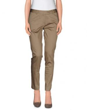 Повседневные брюки SAISON. Цвет: хаки