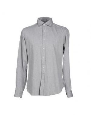 Джинсовая рубашка MASTAI FERRETTI. Цвет: серый