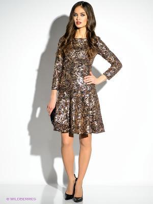 Платье Just Cavalli. Цвет: золотистый, черный
